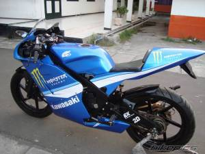 modifikasi ninja 150 rr blue 10