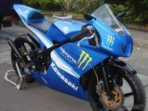 modifikasi ninja 150 rr blue 8