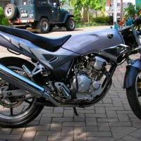 Yamaha Scorpio Z nungging tanpa Arm Relay dan Conrod.