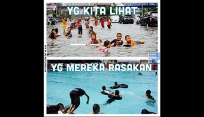 meme banjir jalan jakarta 2015