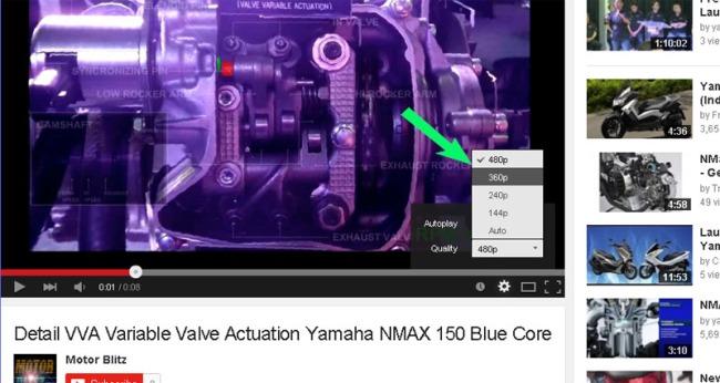 video vva nmax 150