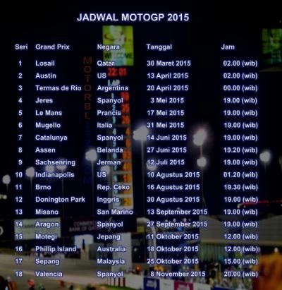 Jadwal jam tayang motogp 2015 trans7