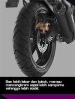 Yamaha R15 wider-tyre