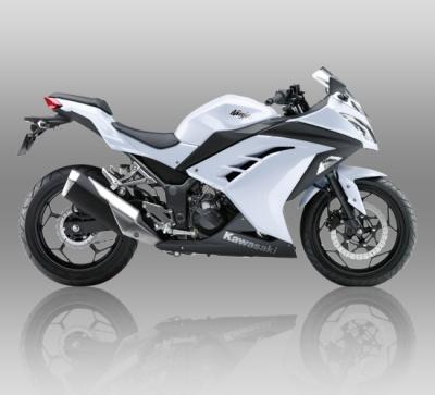 Ninja 250 FI Standar warna putih.
