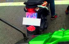 stiker belakang motor