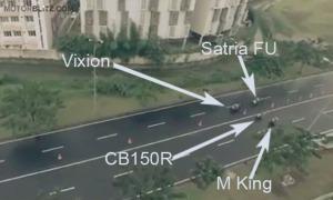 satria vs mx king vs vixion vs cb150r_