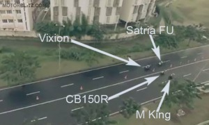 satria vs mx king vs vixion vs cb150r_