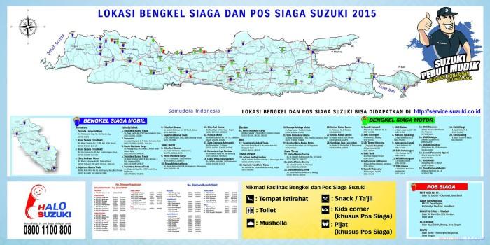 peta lokasi pos mudik servis motor suzuki 2015