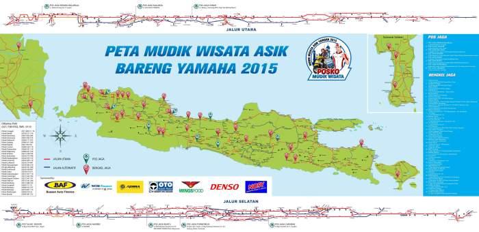 peta lokasi posko mudik yamaha 2015