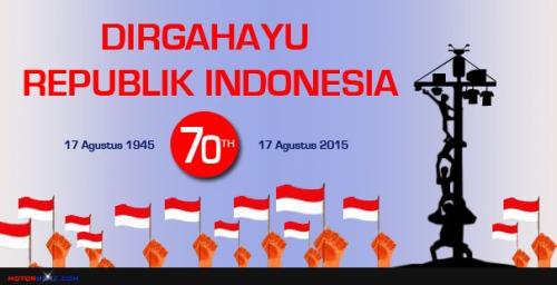 dirgahayu kemerdekaan Indonesia 1945 ke 70