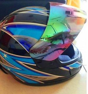 kaca helm pelang