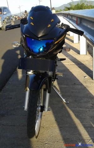 lampu depan motor pelangi ninja 150 r