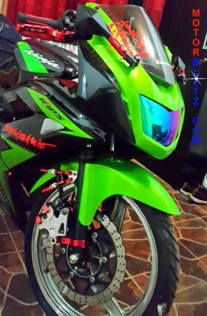 lampu depan motor pelangi ninja rr
