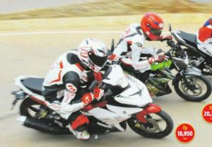 adu sonic 150 vs Satria FU vs MX King (2)
