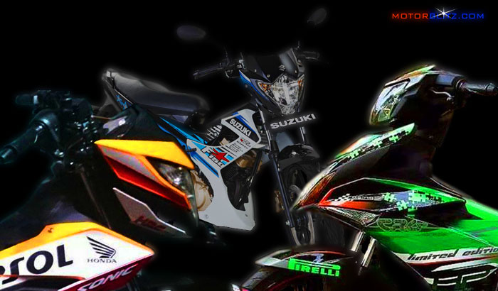 drag sonic 150 vs Satria FU vs MX King