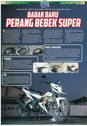 geber sonic 150 vs Satria FU vs MX King