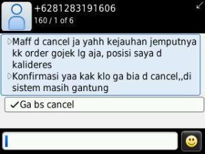 gojek cancel