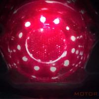 Rangkaian sederhana penstabil tegangan arus listrik untuk lampu LED motor.