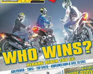 tabloid motorplus adu sonic 150 vs FU vs MX King