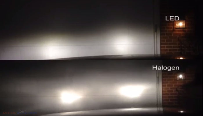 Led Headlamp vs Halogen 2b