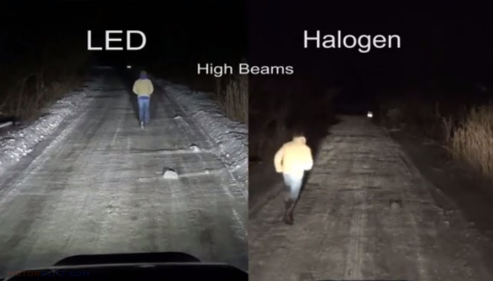 Led Headlamp vs Halogen 2d