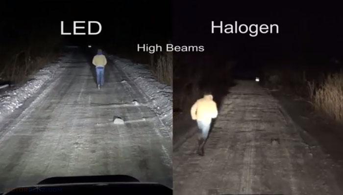 Led Headlamp vs Halogen 2d
