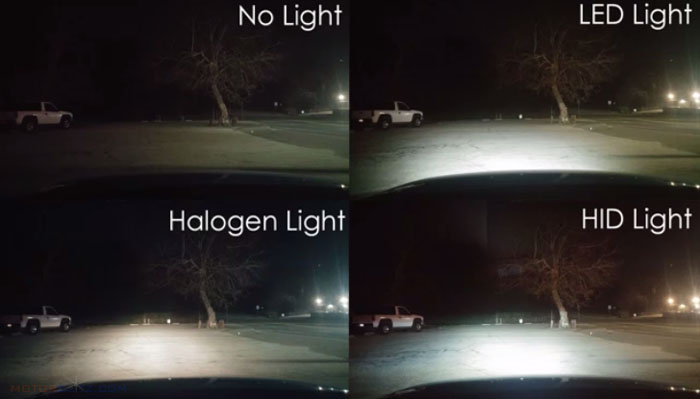 Led Headlamp vs Halogen 3