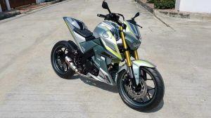 abu2 grey modifikasi Yamaha Xabre 150 M-Slaz