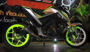 green hijaumodifikasi Yamaha Xabre 150 M-Slaz (3)