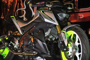 green hijaumodifikasi Yamaha Xabre 150 M-Slaz (4)