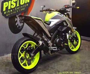 green hijaumodifikasi Yamaha Xabre 150 M-Slaz (5)