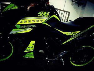 green hijaumodifikasi Yamaha Xabre 150 M-Slaz (6)