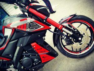 red modifikasi Yamaha Xabre 150 M-Slaz (3)