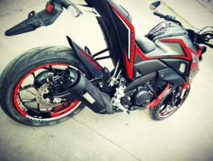 red modifikasi Yamaha Xabre 150 M-Slaz (4)