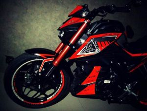 red modifikasi Yamaha Xabre 150 M-Slaz (5)