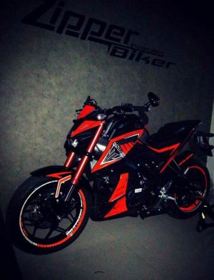 red modifikasi Yamaha Xabre 150 M-Slaz