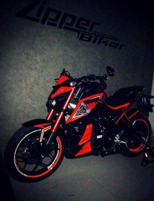 red modifikasi Yamaha Xabre 150 M-Slaz
