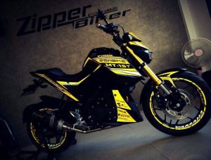 yellow kuning modifikasi Yamaha Xabre 150 M-Slaz (14)