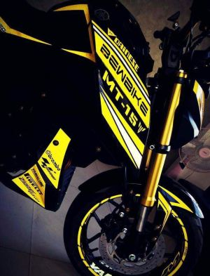 yellow kuning modifikasi Yamaha Xabre 150 M-Slaz (15)
