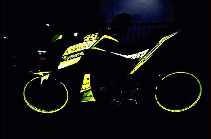 yellow kuning modifikasi Yamaha Xabre 150 M-Slaz (19)