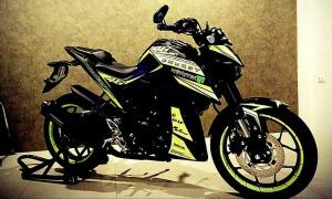 yellow kuning modifikasi Yamaha Xabre 150 M-Slaz (2)