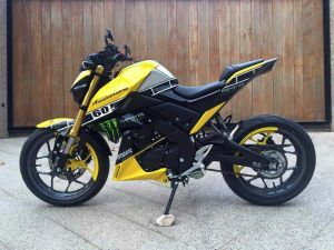yellow kuning modifikasi Yamaha Xabre 150 M-Slaz (4)