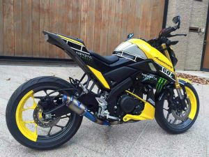 yellow kuning modifikasi Yamaha Xabre 150 M-Slaz (6)