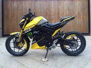 yellow kuning modifikasi Yamaha Xabre 150 M-Slaz (7)