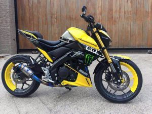 yellow kuning modifikasi Yamaha Xabre 150 M-Slaz