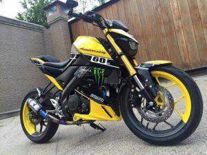 yellow kuning modifikasi Yamaha Xabre 150 M-Slaz