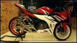 modifikasi cbr150r 2016 Racing Red Concept 16