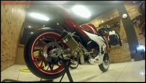 modifikasi cbr150r 2016 Racing Red Concept