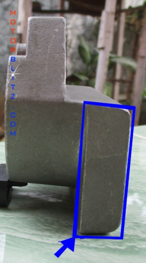 tonjolan kotak di braket vixion
