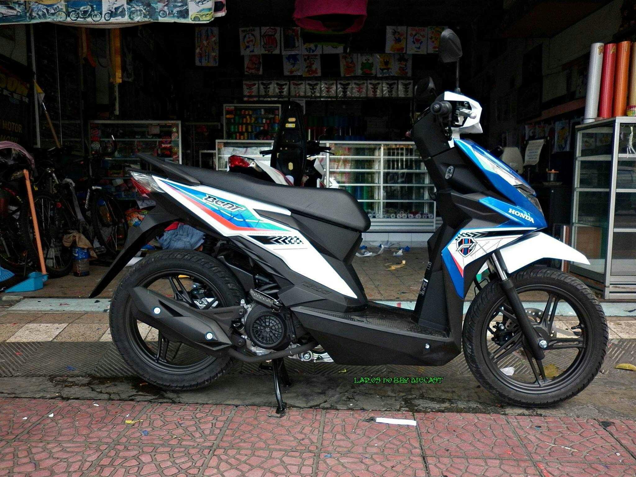 Modifikasi Honda Beat Esp Biru Mobiliobaru